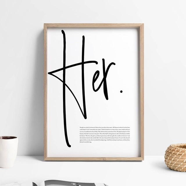 Him/Her Wall Art Decor