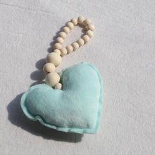 Load image into Gallery viewer, Wooden Beads- Moon Star Heart Wall Hanging