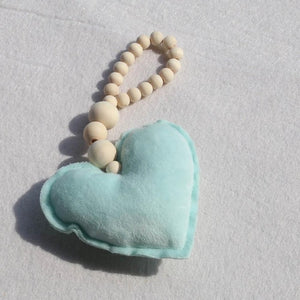 Wooden Beads- Moon Star Heart Wall Hanging