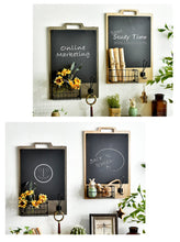 Load image into Gallery viewer, Wooden Chalkboard with Basket