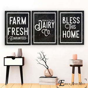 Kitchen Farmhouse Quote-Canvas Painting Posters