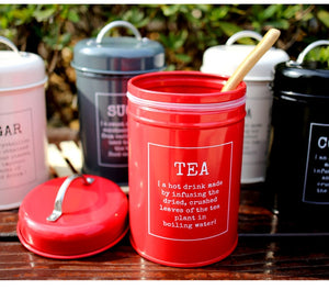 Coffee -Sugar-Tea Storage Tins