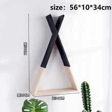 Load image into Gallery viewer, Wooden Triangle Shelf