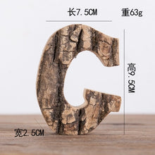 Load image into Gallery viewer, Tree Bark Letters