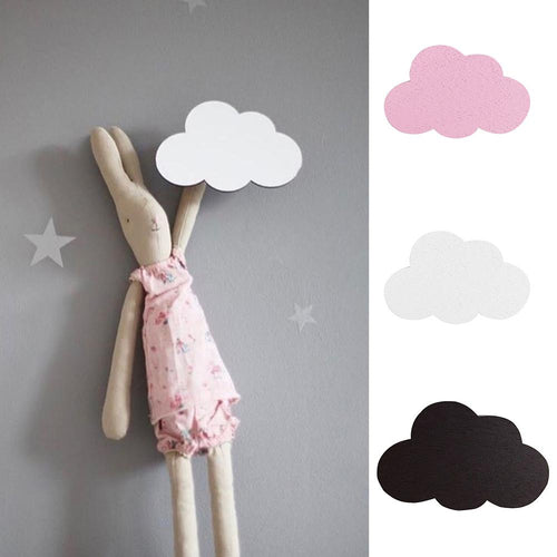 Wooden Cloud Wall Hanging Hook