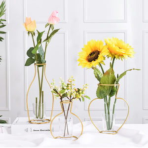 Gold Wire Flower Vase