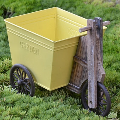Vintage Wooden French Flower Cart