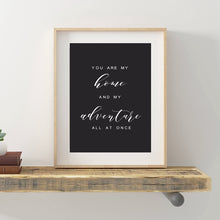 Load image into Gallery viewer, Farmhouse Wall Art Quote Canvas- You are my Home - Home Decor