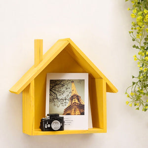 Wooden House Shelf