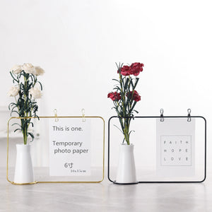 Photo Frame Stand With Vase