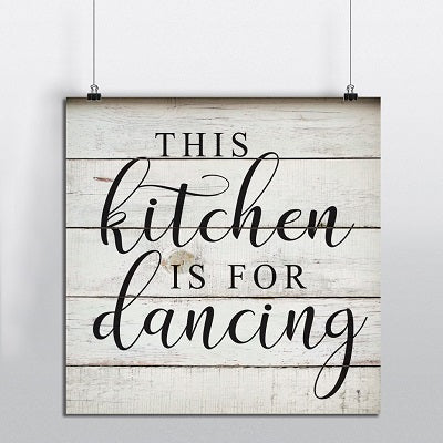 This Kitchen Is for Dancing Canvas Wall Art