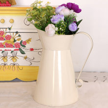 Load image into Gallery viewer, White Enamel Pitcher