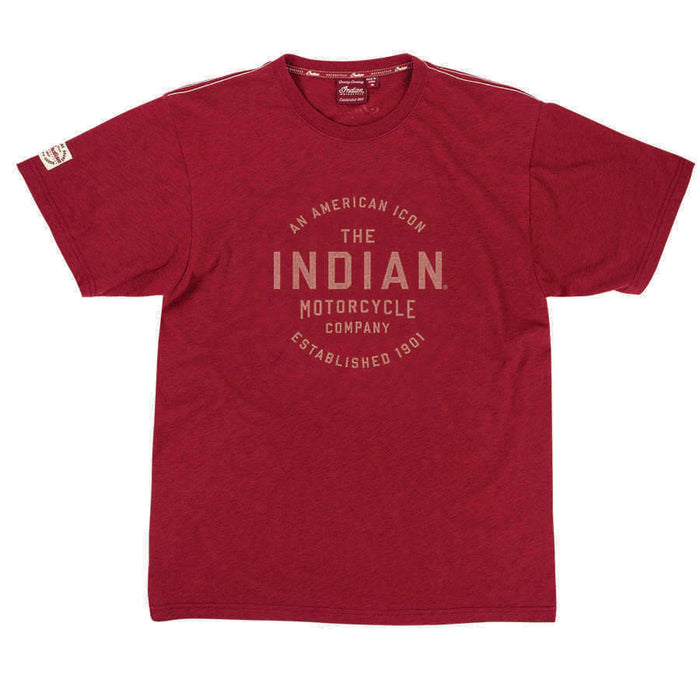 Indian Motorcycle Mens Icon Round Logo T-Shirt - Motolifestyle