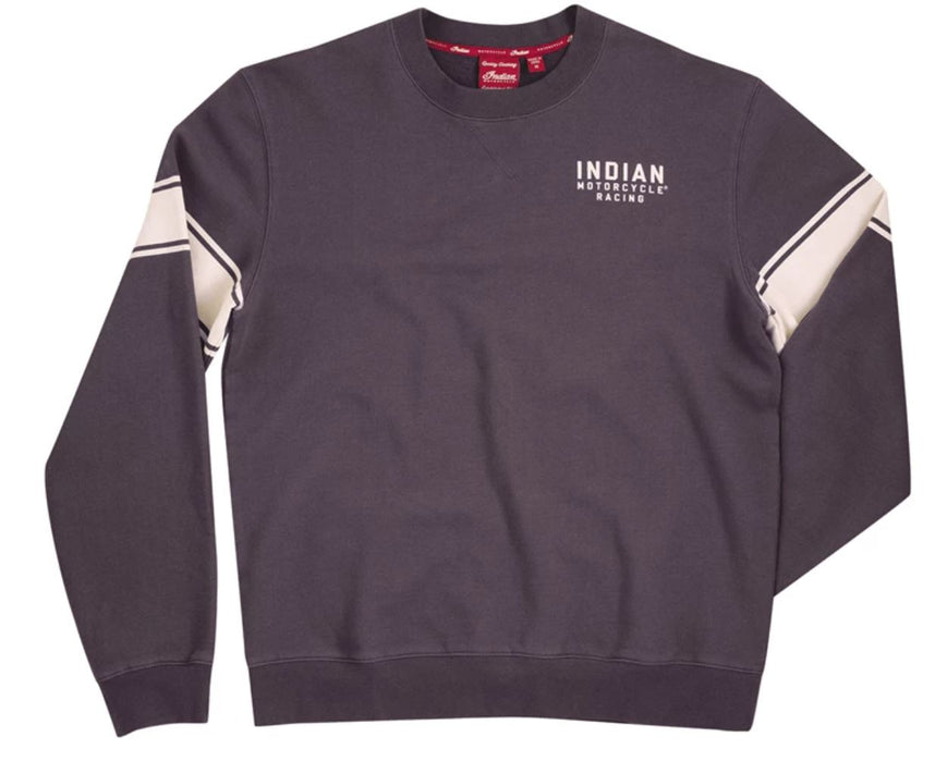 Indian Motorcycle Men's Wrecking Crew Pull-Over Sweatshirt with Stripe - Motolifestyle