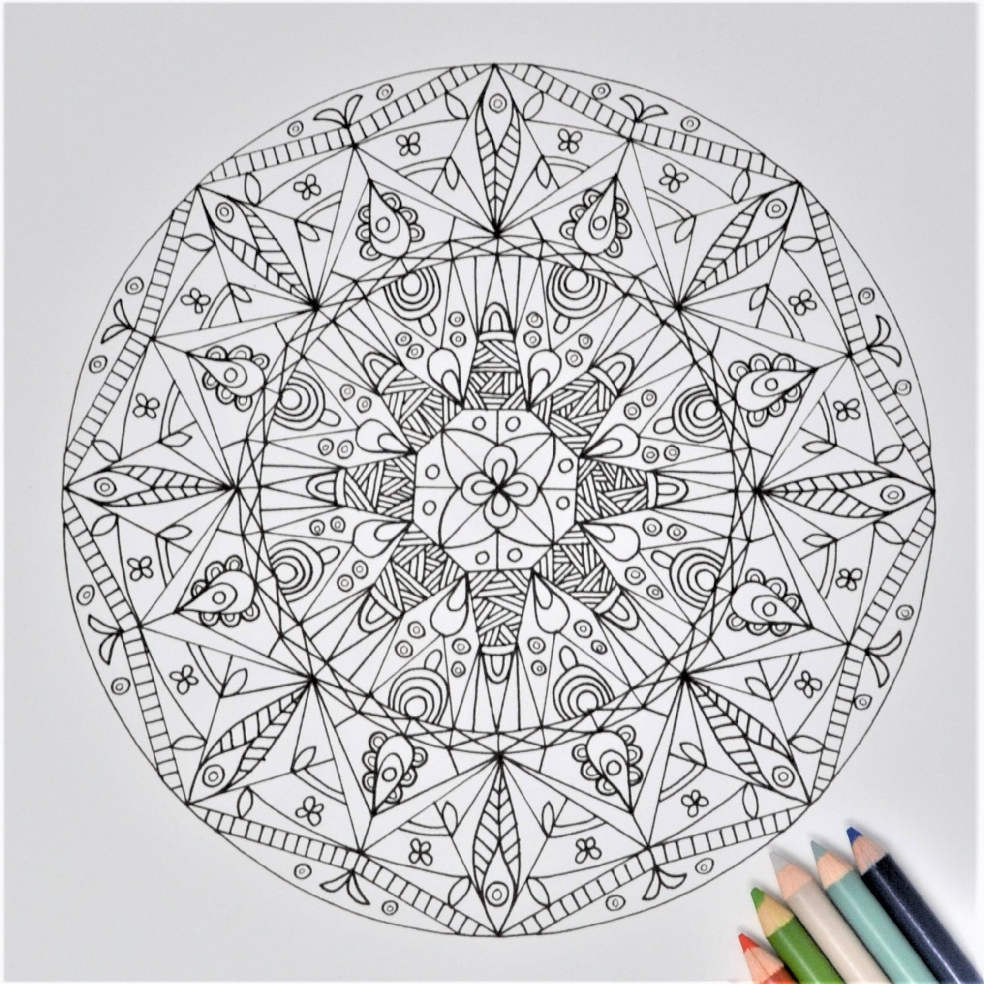 graphic relating to Printable Adult Coloring Pages Pdf referred to as Meditative Mandalas - Printable Grownup Coloring Guide PDF with