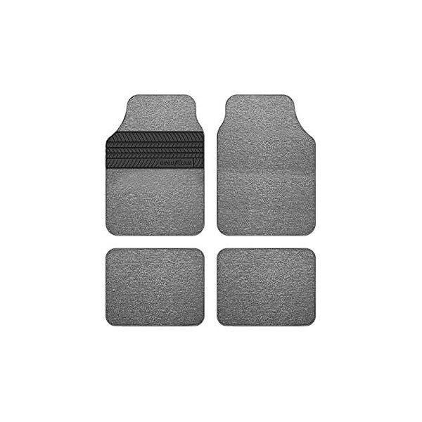 Set de tapis de voitures Goodyear GOD9019 Universel Gris (4 pcs)