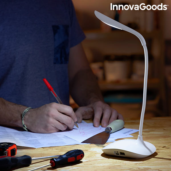Lampe LED de Table Rechargeable Tactile Lum2Go InnovaGoods