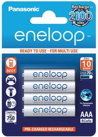 Piles Rechargeables Panasonic Corp. Eneloop SY3052685 1,2 V AAA 750 mAh (4 pcs) (Refurbished A+)