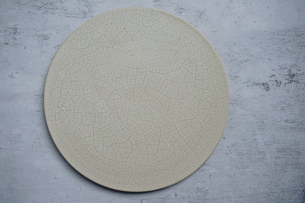 Satomi Ito - Round Plate with Crackled Glaze