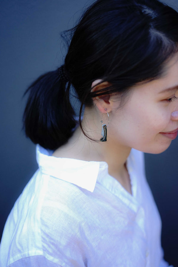 Soryu-gama - Ishizue Hoop Earrings