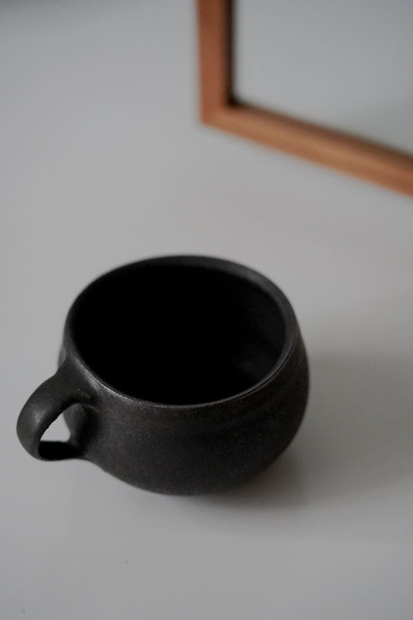 Katsufumi Baba - Black Glazed Soup Mug (LAST ONE)