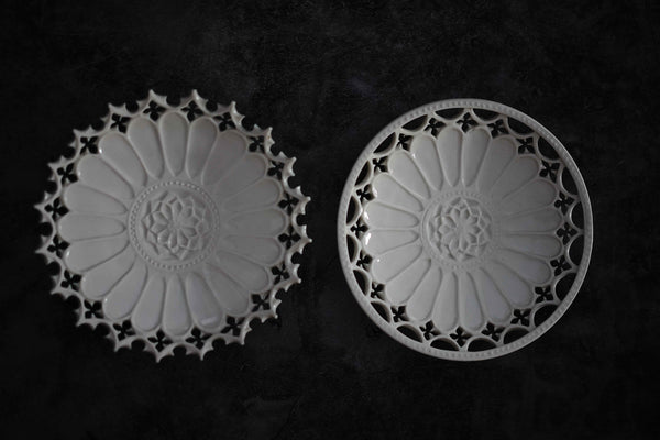 """PREORDER"" Taketoshi Ito - Sculpted Flower Plates (CLOSED)"