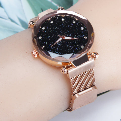 Ladies Magnetic Luxury Starry Sky Clock