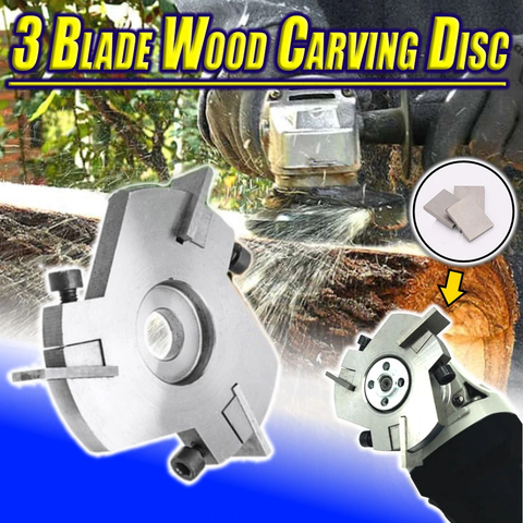 3 Blade Wood Carving Disc