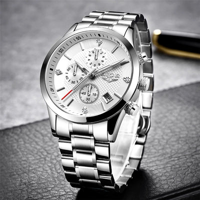 Men's sports chronograph waterproof watch