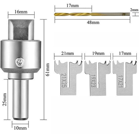 RING AND BUTTON DRILL BIT