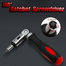 Load image into Gallery viewer, 180° Ratchet Screwdriver