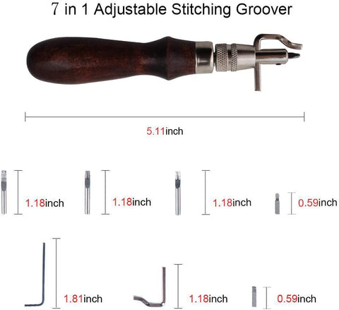 ClassicCrafts Adjustable Leather Stitch Groover