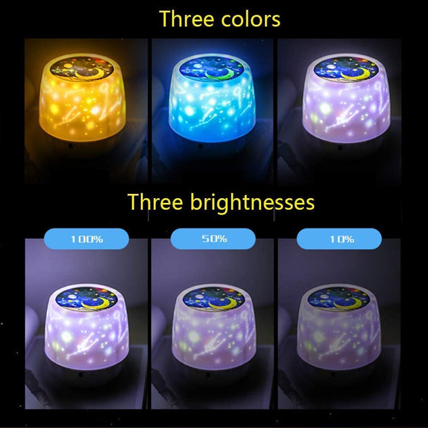 Multifunctional night light starry sky projection lamp