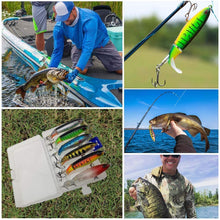 Load image into Gallery viewer, Floating rotating tail lures hard bait