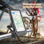 Mobile phone bracket waterproof bag