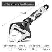Stainless steel adjustable wrench