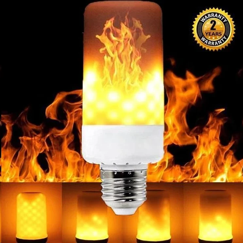 LED Gravity Effect Fire Light Bulbs for Home Decor (Halloween Special)
