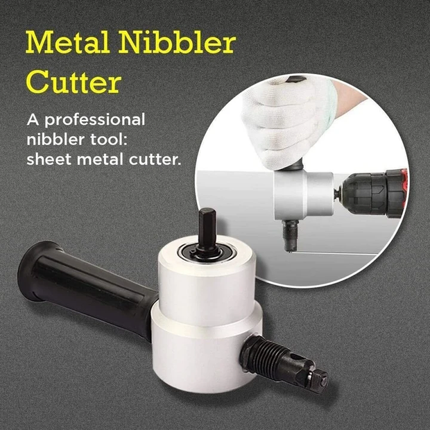 Double Headed Sheet Metal Nibbler Attachment