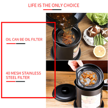 Load image into Gallery viewer, Bacon Grease Container with Fine Mesh Strainer