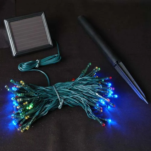 SOLAR CHRISTMAS LIGHTS (WHITE - 100 LED - 12METERS)