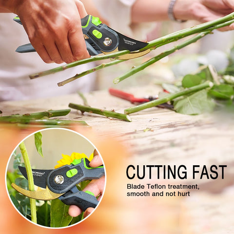 Garden steel pruning shears