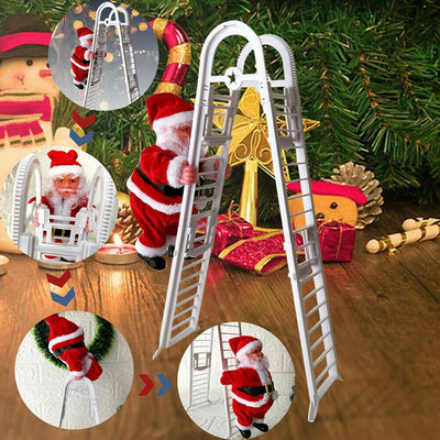 Electric Double Ladder Santa