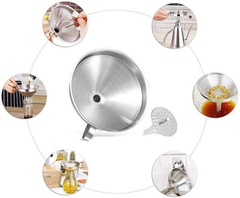 304 Stainless Steel Kitchen Oil Funnel