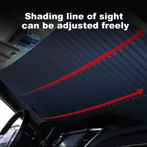 Retractable Foil Curtain For Car's Windshield