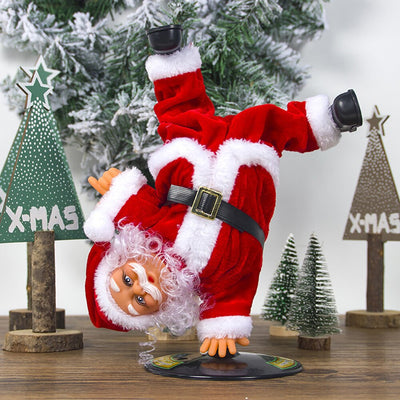 Electric Handstand Rotating Santa