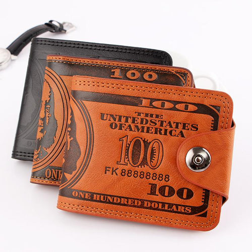 Dollar pattern men's leather wallet(40%OFF)