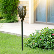 Solar Flame Flickering Lamp Torch For Outdoor Garden Water Resistance