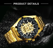 Luminous Waterproof Skull Mechanical Watch