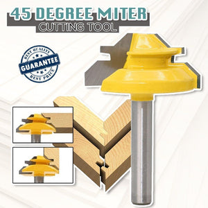45-degree Lock Miter Router Bit