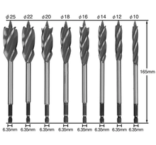 Load image into Gallery viewer, Four-Edged High Carbon Steel Twist Drill Bit